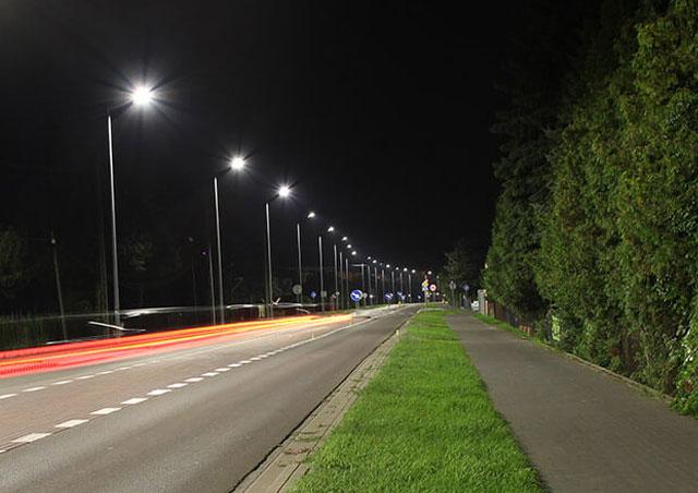 Lampy uliczne LED - ul. Wolności w Mielcu