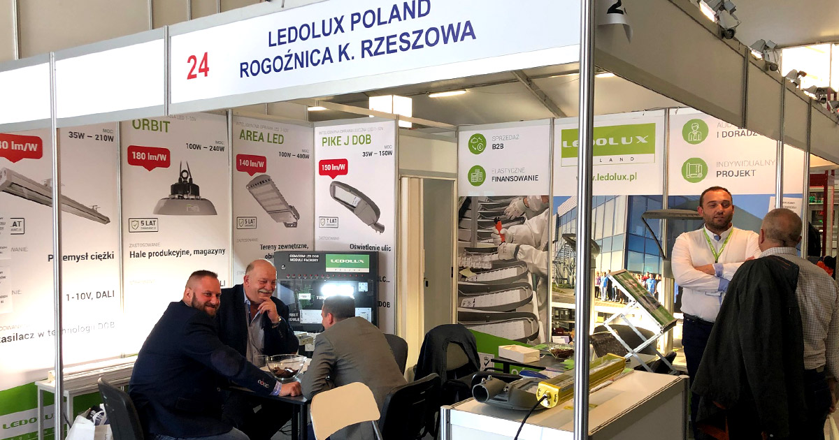 Ledolux stand at the Energetab